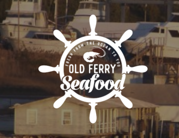 old ferry seafood logo supply nc