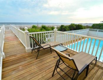 holden beach oceanfront vacation rental with pool