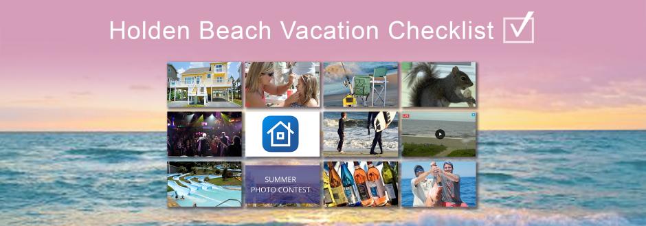 holden beach vacation checklist