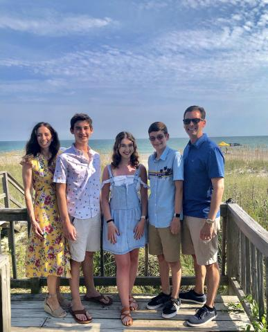 Family photo on Holden Beach