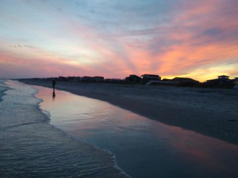 Holden beach at sunset