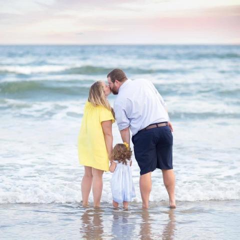 Family on Holden Beach