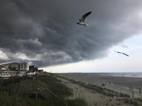 stormy day on holden beach