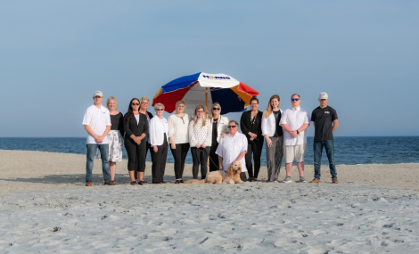 hobbs realty team on beach