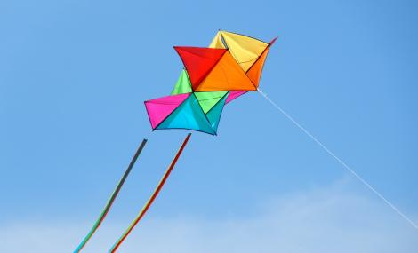kites in sky flying