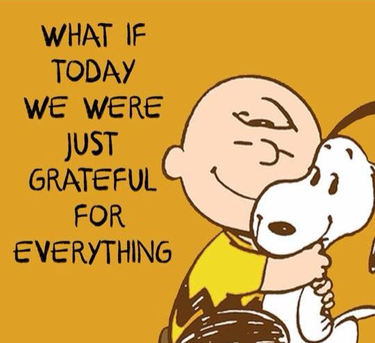 Charlie Brown Gratitude Quote