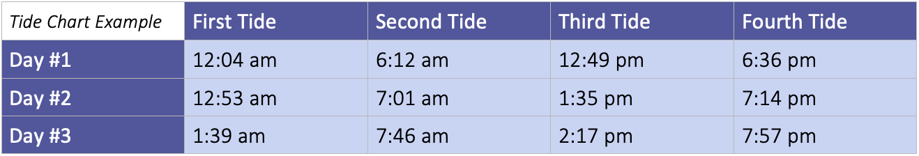 tide chart example