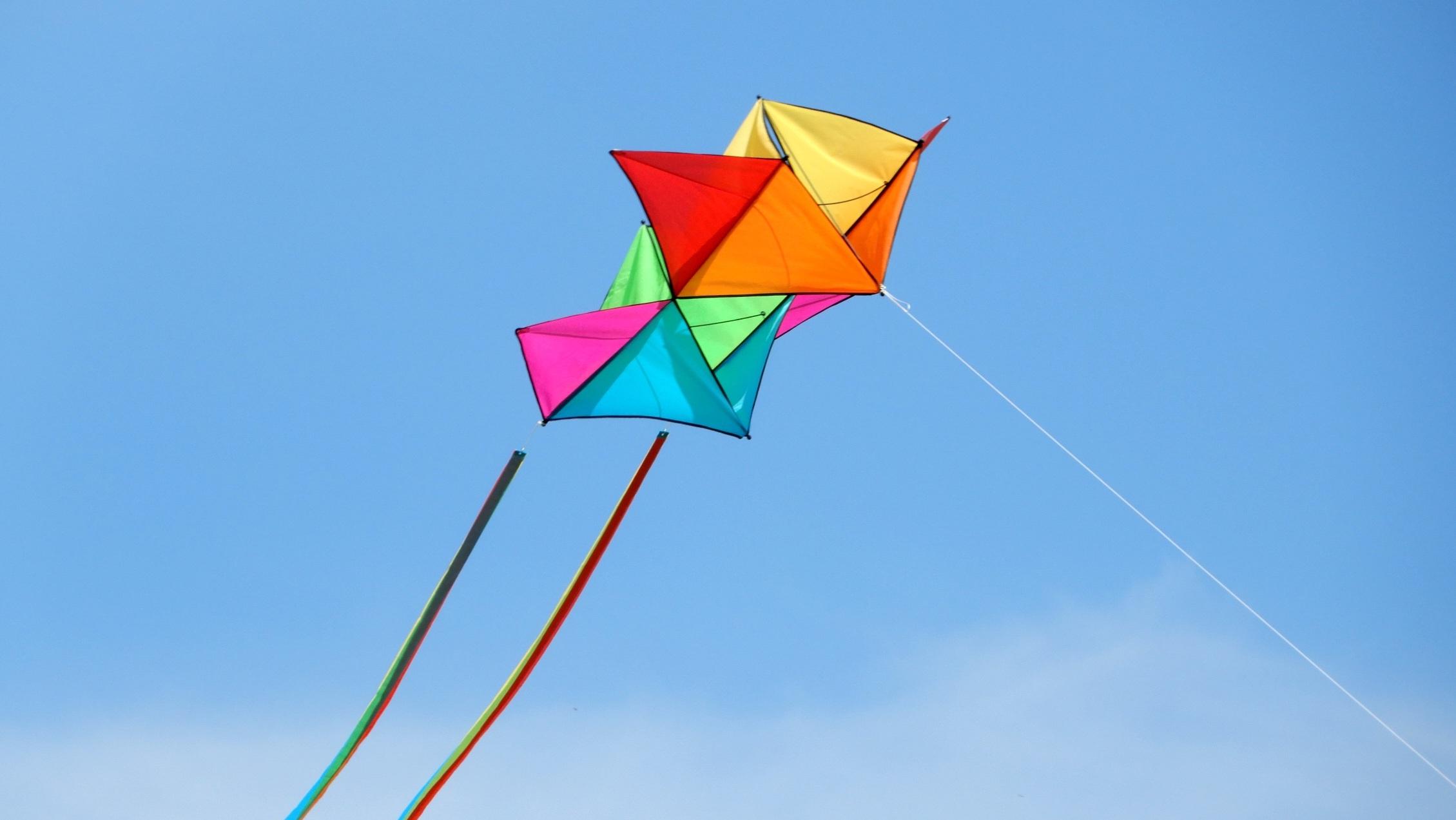 kites in sky flying